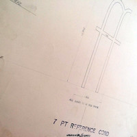 Ligature ff, industrial drawing, original font casting drawing, typographic drawing: 7pt Reference Cond. 1967