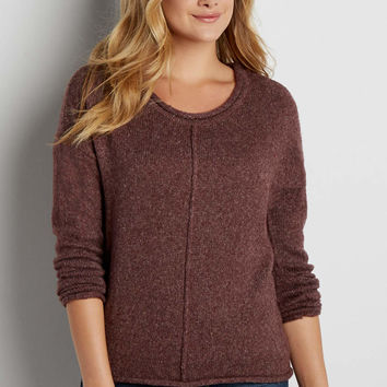 pullover sweater with metallic shimmer | maurices