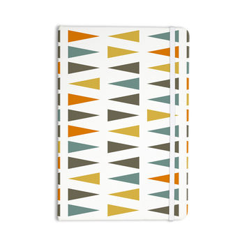 "Pellerina Design ""Stacked Geo"" White Triangles Everything Notebook"