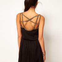 ASOS Skater Dress Embellished Back