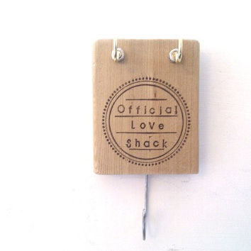 Wedding Key Holder Organiser - Beautiful Gift - wall mounted wood