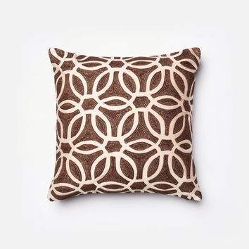 Loloi Brown / Beige Decorative Throw Pillow (P0135)