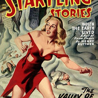 Vintage Sci Fi Poster ANC Startling Stories July 20c