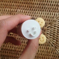 3D cookie cutters-shaped face ver.1 (wooden handle stamp type 1P)