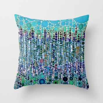 :: Blue Raspberry Martini :: Throw Pillow by :: GaleStorm Artworks ::