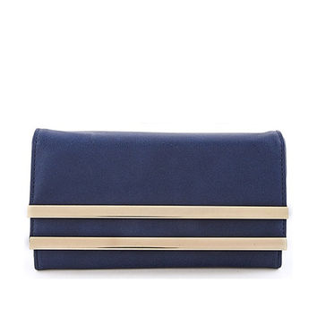 Navy Gold Bar Wallet