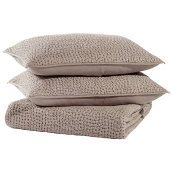 Dyed Ground Gray Coverlet Set by John Robshaw