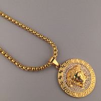 Stylish New Arrival Shiny Jewelry Gift Hot Sale Hip-hop Club Necklace [6542787139]
