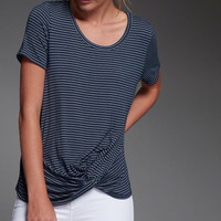Drapey Knot Front Tee