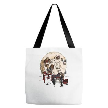 doctor's portrait Tote Bags