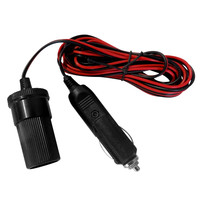 Evelots® 12V 12 Foot Extension Cord With Cigarette Lighter Plug, Heavy Duty