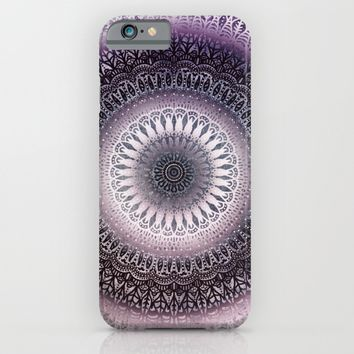 PURPLE WINTER LEAVES MANDALA iPhone & iPod Case by Nika | Society6