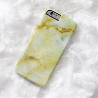 Marble with Yellow Threads iPhone SE/5/5s Case