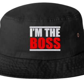 i am the boss bucket hat