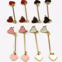 Hanging Hearts Earrings