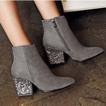 Party Time High Heels- Grey