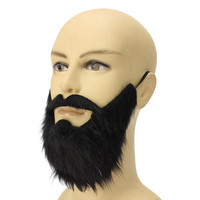 Halloween Beard Facial Hair Disguise Game (Black Mustache)