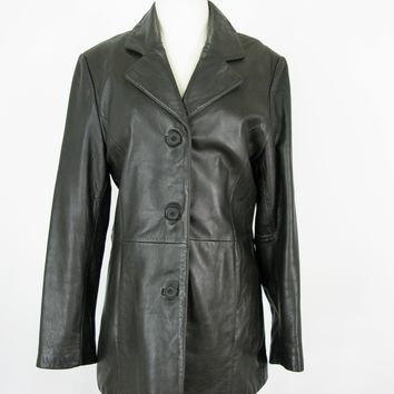 Adler Collection Soft Leather Duster Coat M