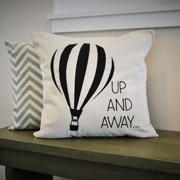 Hot air balloon pillow cover