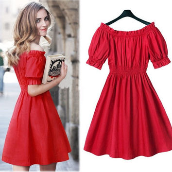 Europe summer dress 2015 fat women dress plus size 5XL casual dress 4XL women clothing M L XL XXL XXXL XXXXL XXXXXL = 1958235908