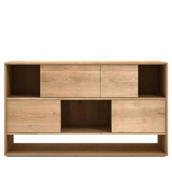 Ethnicraft Oak Nordic Sideboard - 4 Sliding Drawers