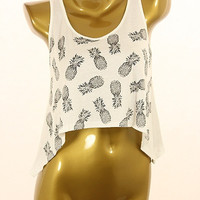 DICED PINEAPPLE LIFE CROP TOP | Paper Kranes