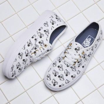DCCKBWS VANS X Disney Mickey Mouse Canvas Old Skool Flats Sneakers Sport Shoes