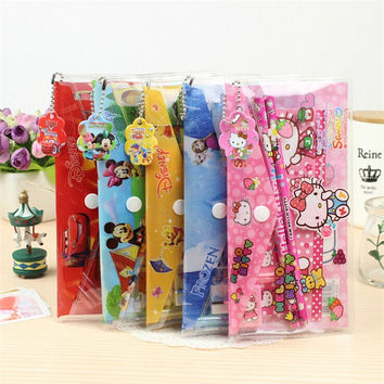 9 In 1 Cute Kawaii Cartoon Hello Kitty Doraemon Stationery Set For Kids Student Gift Novelty School Supply Free Shipping 2201