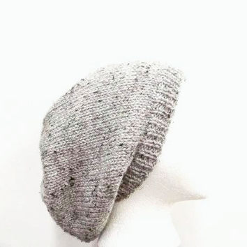 Gray knitted Slouchy hat