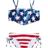 Stars & Stripes Fringe Bikini Swimsuit