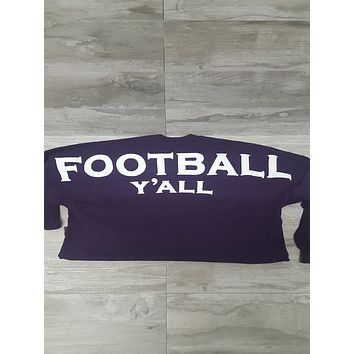 Football Y'all Spirit Jersey in Deep Purple