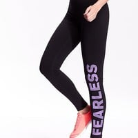 Old Navy Leg Graphic Compression Leggings