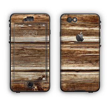 The Dark Highlighted Old Wood Apple iPhone 6 Plus LifeProof Nuud Case Skin Set
