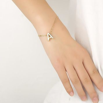 Fashion English Letters Women Bracelets Trendy Jewelry For Ladies Summer Accessories Friend Gifts Golden Color