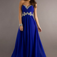 Attractive Sheath/Column Strapless Sweetheart Neckline Beading Sweep Train Prom/Homecoming/Bridesmaid/Formal Dresses