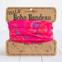 Natural Life Half Boho Bandeau Headbead and Accessory in Hot Pink BBW030