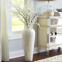 Ivory Mother-of-Pearl Floor Vase$99.95