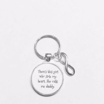 Daddy's Girl There's This Girl Who Stole My Heart She Calls Me Daddy Keychain