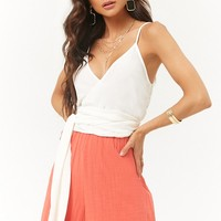 Self-Tie Sash Cropped Cami