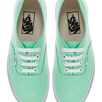 Vans Authentic Classic Mint Trainers