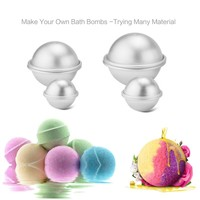 6pcs/pack Metal Aluminum Alloy Bath Bomb Mold 3D Ball Sphere Shape DIY Bathing Tool Accessories Creative Mold