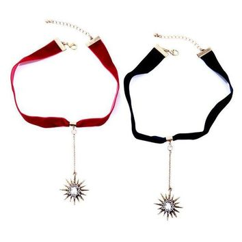 DCCK1V7 Simple ribbon star pendant ladies necklace