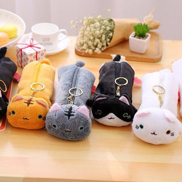 Kawaii Kitty Cat Pencil Case, Cute Pencil Pouch, Cute Make up Bag