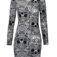 sirenlondon — Wee skully Bodycon Dress