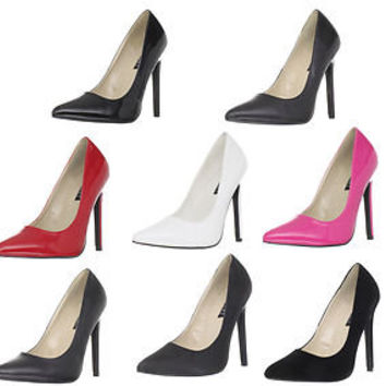 Pleaser DEVIOUS SEXY-20 Stiletto Heel Pointy Toe Pumps in 4 Colors