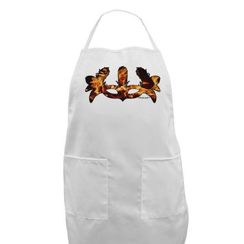 Fire Masquerade Mask Adult Apron by TooLoud