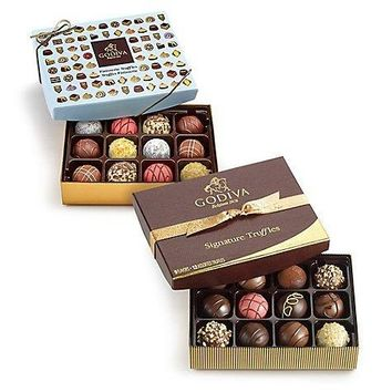 GODIVA SIGNATURE TRUFFLES GIFT BOX 12 PC. & PATISSERIE DESSERT TRUFFLES GIFT BOX 12 PC. $55