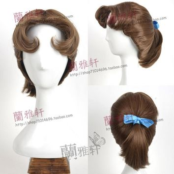 Peter pan Wendy Princess wig Fang Wen cosplay Animation wig for women party +wig cap