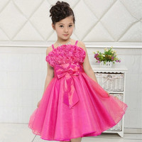 New Arrival Sweet Baby Toddler Girls Kids Children Princess Sleeveless Dress Flowers Wedding Party Dress Tutu Outfit#337 = 1933155908