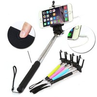 [2015 New Version Free Charging Monopod Selfie Stick] BenGoo Extendable No Charger Charging Free No Bluetooth 3.5mm Wired Remote Control Cable Control Selfie Stick Selfie Handheld Stick Monopod Extendable Handheld Pole Holder with Adjustable Phone Holder M